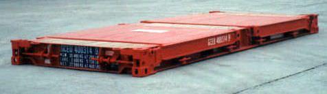 container en acier inoxydable / de transport / flat rack
