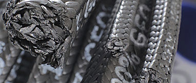 garniture tressée en graphite / en PTFE / pour agitateur
