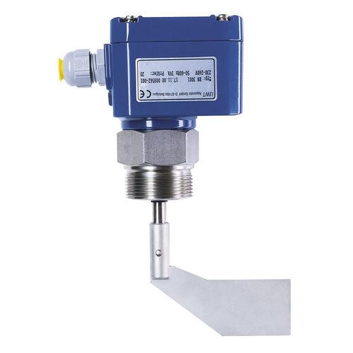 détecteur de niveau à palette rotative / électromécanique / pour produits en vrac / en acier inoxydable