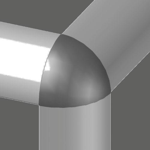connecteur de tube d'angle / en aluminium