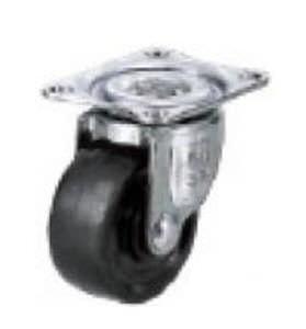 roulette pivotante / à platine / monobloc / en acier