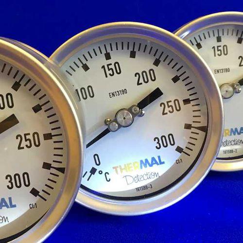 Thermomètre bimétallique / à bride / fileté / à insertion -30 °C ... +500 °C | BMI series Thermal Detection