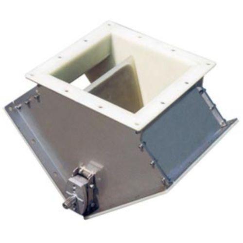 Vanne d'aiguillage pour transport pneumatique / socle carré / à actionneur électrique / à actionneur pneumatique DVA WAMGROUP S.p.A