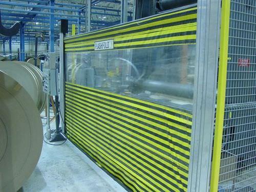 porte à enroulement / en aluminium / en tissu / PVC