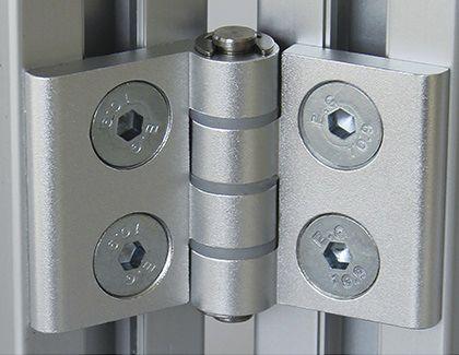 charnière en aluminium / d'angle / à visser / 180°