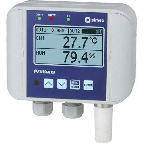 contrôleur de température avec régulation d'humidité / avec afficheur LCD / sans affichage / à double affichage