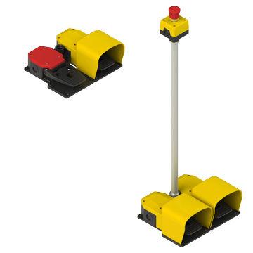 interrupteur à pédale de commande / électrique / 2 pédales