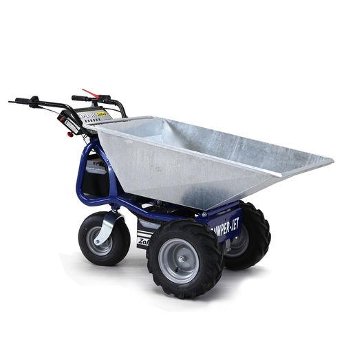 mini-dumper sur pneus / électrique / à déchargement frontal / compact