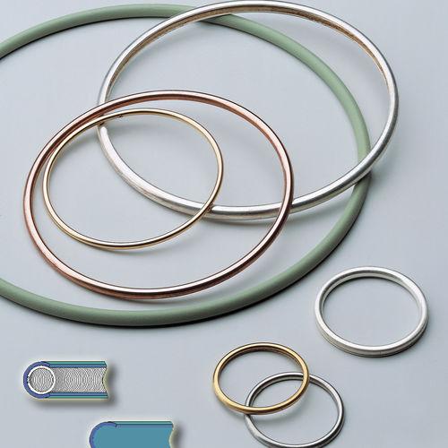 joint à ressort / profilé / C-ring / en métal