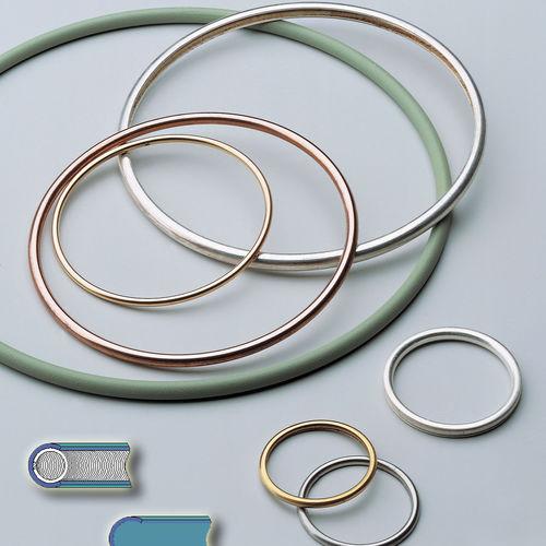 joint à lèvre / à ressort / C-ring / en métal