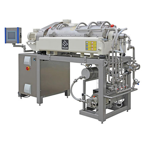 Décanteur centrifuge / horizontal / pour l'industrie agroalimentaire / pour l'industrie de la boisson DecaFood® Hiller GmbH