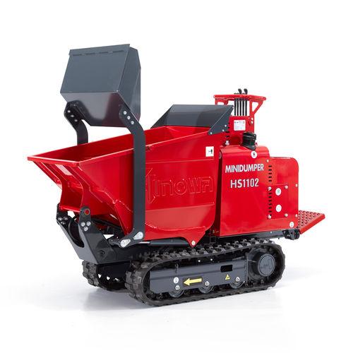 Mini-dumper à chenilles / diesel / à déchargement frontal / à benne élévatrice HS1102 HINOWA SPA