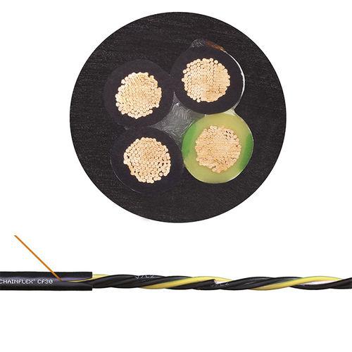 Câble électrique d'alimentation / à retardateur de flamme / résistant à l'huile / blindé chainflex® CF30 series  igus®