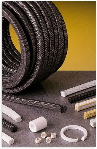 garniture tressée en PTFE / en fil synthétique / pour pompe / pour l'industrie alimentaire