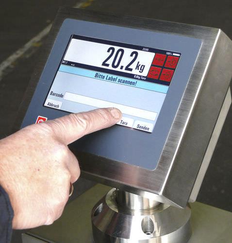 indicateur de pesage avec écran tactile / programmable