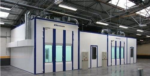 Cabine de peinture fermée / à filtre / pour l'industrie automobile Weinmann technologies
