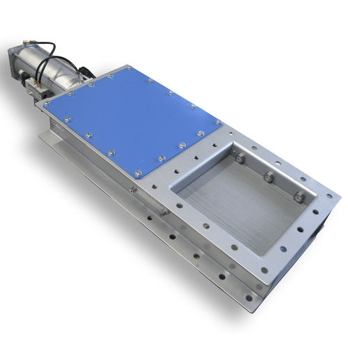 vanne à glissière / électrique / à commande pneumatique / de blocage