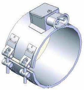 réchauffeur à ruban / de tubes / par conduction