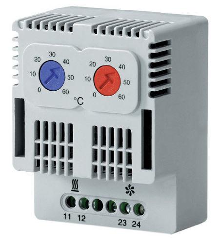 thermostat à contact / bimétallique / réglable / compact