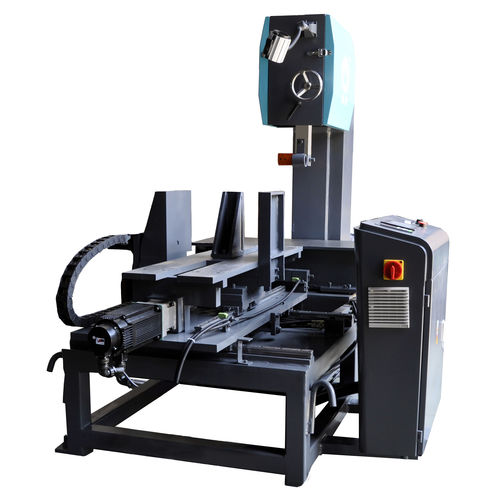Scie à ruban / pour graphite / verticale / à table mobile 500H*400w Zhejiang Weiye Sawing Machine Co., Ltd