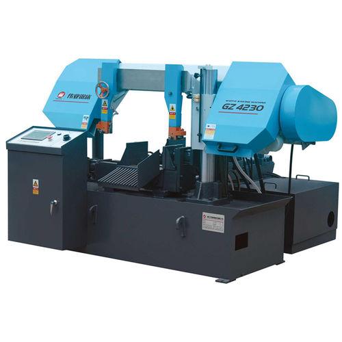 Scie à ruban / pour tuyaux / avec système de refroidissement / avec convoyeur à rouleaux CE 300Hx300W GZ4230 Zhejiang Weiye Sawing Machine Co., Ltd