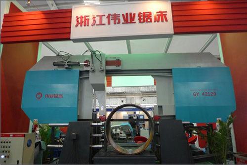 Scie à ruban / pour métaux / pour tuyaux / avec système de refroidissement CE 1200Hx1200W GY42120 Zhejiang Weiye Sawing Machine Co., Ltd