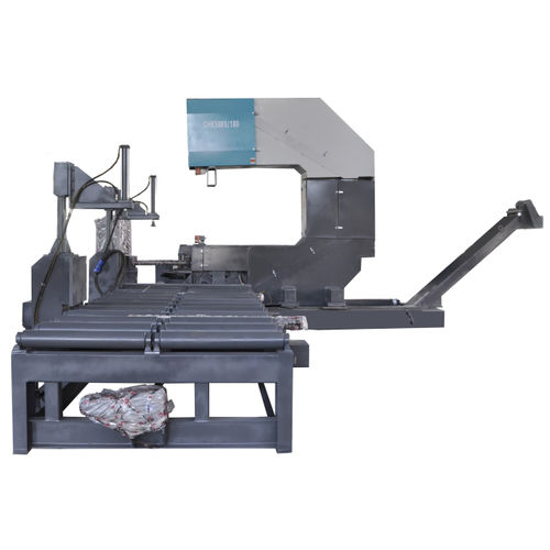 Machine à scier à ruban / pour aluminium / pour tubes / pour profilés GHK5380-180 Zhejiang Weiye Sawing Machine Co., Ltd