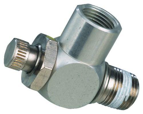 clapet anti-retour à piston / de régulation de débit / en laiton / à pointeau