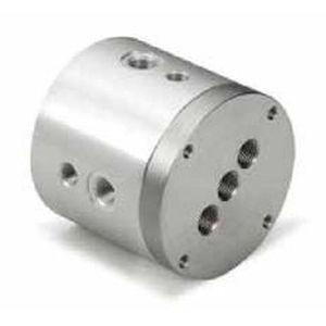 raccord tournant pour air / 2 passages / pour applications pneumatiques / compact