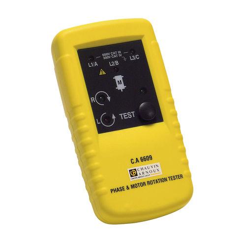 testeur d'ordre de phases / d'installation électrique / de moteur / numérique