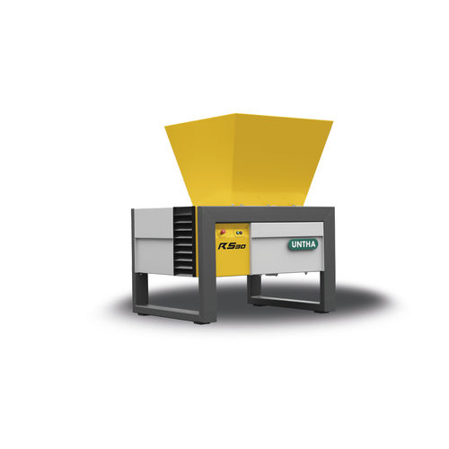déchiqueteur à 4 arbres / pour carton / pour déchets électroniques / papier