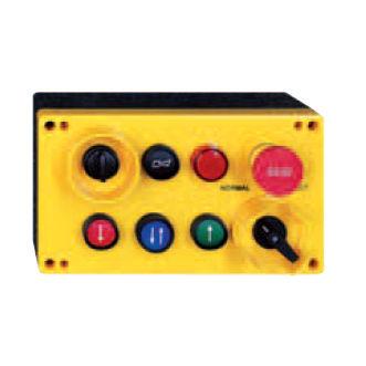 télécommande filaire / à 6 boutons / avec interrupteur d'arrêt d'urgence / industrielle