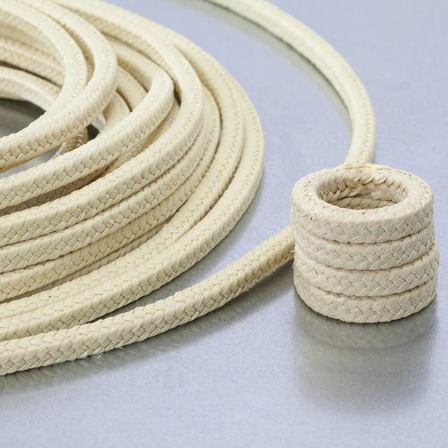 garniture tressée en PTFE / en fil d'aramide / résistante aux produits chimiques / pour l'industrie chimique