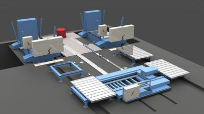 Chariot de manutention / d'outils de presse / sur rail SERAPID