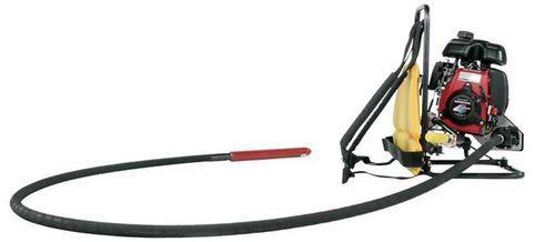 vibrateur essence / pour béton / dorsal