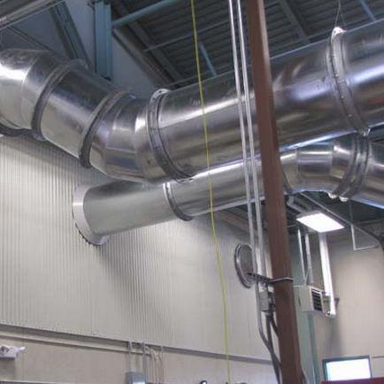 gaine de ventilation rigide / en acier inoxydable / en acier galvanisé / pour ventilation