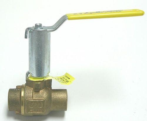 vanne à levier / pour l'eau / avec rallonge pour isolation / en laiton
