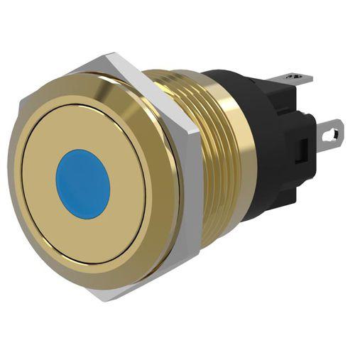 bouton poussoir tactile / unipolaire / lumineux / action momentanée