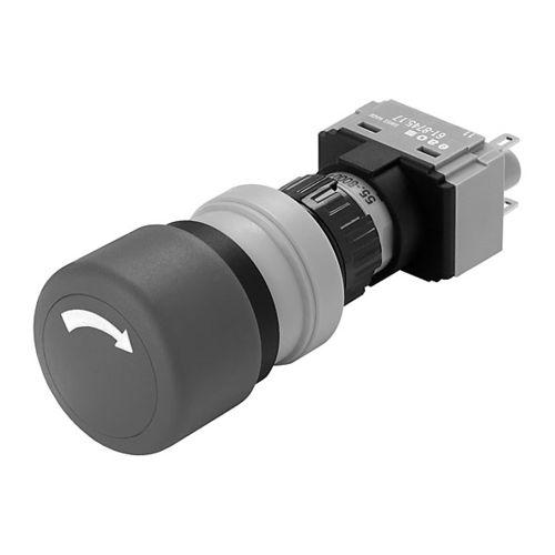 interrupteur à tête champignon / unipolaire / rond / IP65