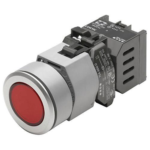 bouton poussoir à ressort / unipolaire / lumineux / en anneau