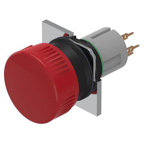 bouton poussoir coup de poing / 2 pôles / électromécanique / IP65