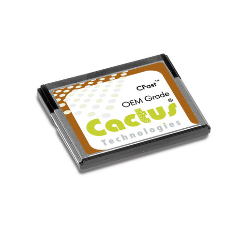Carte mémoire CompactFlash / 32 GB / 64 GB / 4 GB Cactus Technologies pSLC 245S Series - CFast Syslogic GmbH