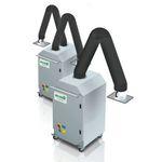 aspirateur de fumée mobile / de soudage / à cyclone / avec bras d'aspiration