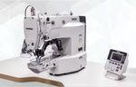 machine à coudre à une aiguille / pour boutons / point noué / électronique