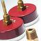 thermo-manomètre à cadran / à tube de Bourdon / pour huile / pour applications marines