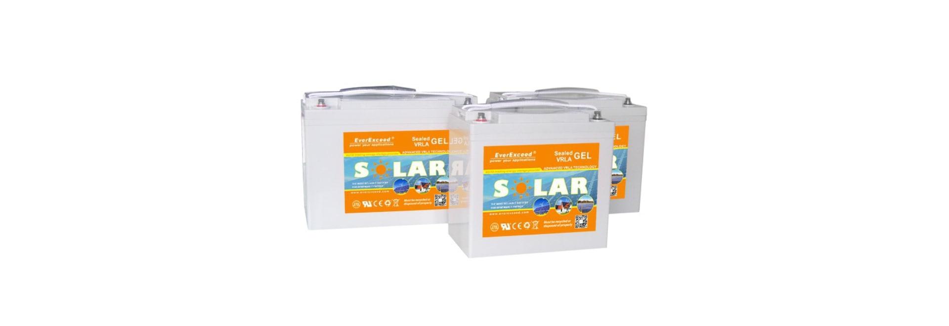 Batterie solaire de chaîne du gel d'EverExceed/haut-fiabilité/cycle profond/UL/CE /ISO