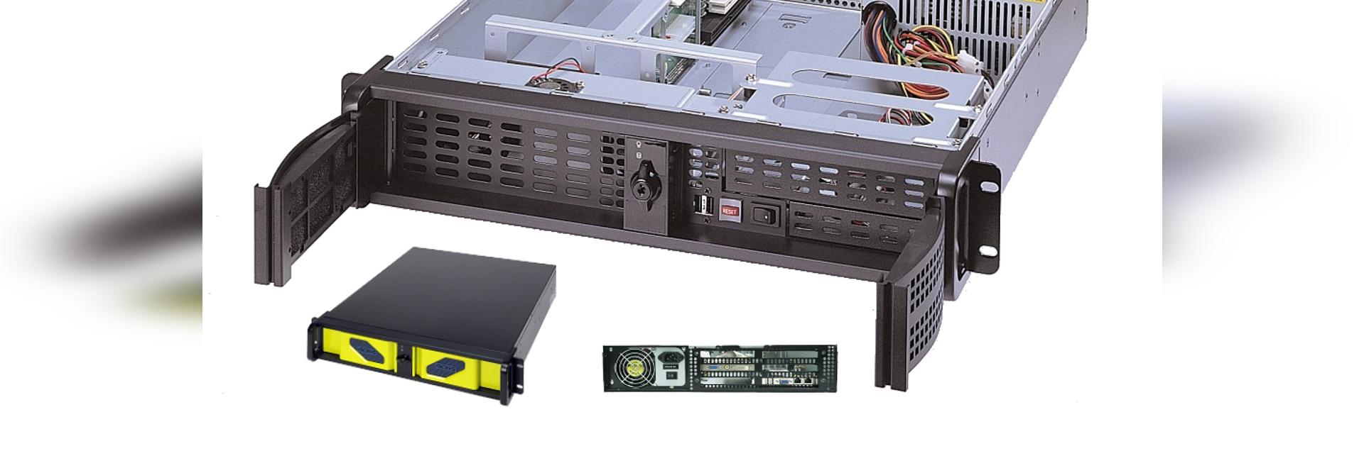 """Châssis Rackmount d'AICSYS Inc. 2U pour l'ordinateur monocarte avec (1) 5,25"""" et (2) 3,5"""" Baies Lecteur, fente de 4 PCI. La carte mère de SHB de PICMG 1,0 ou 1,3 soutient l'alimentation d'énergie d..."""