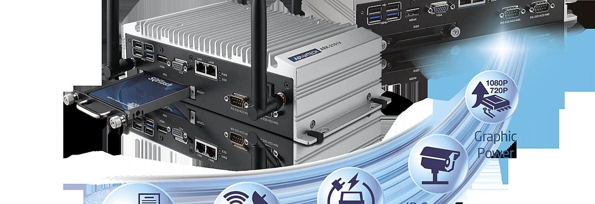 Le Dans-véhicule intégré par ARK-2151V et les solutions visuelles extérieures de surveillance réalisent le rendement élevé, TCO inférieur