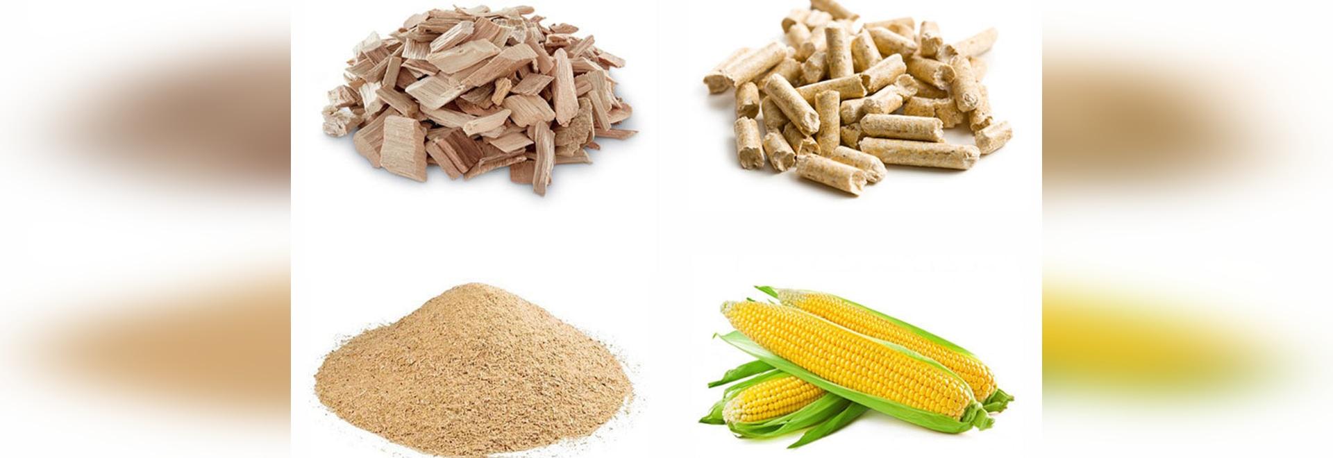Les déchets de bois/granules en bois/ont vu la poussière/herbe/maïs