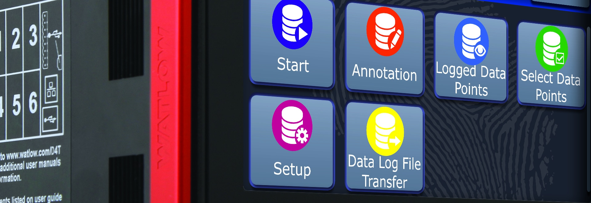 Enregistreur de données avec les modules démontables du champ E/S